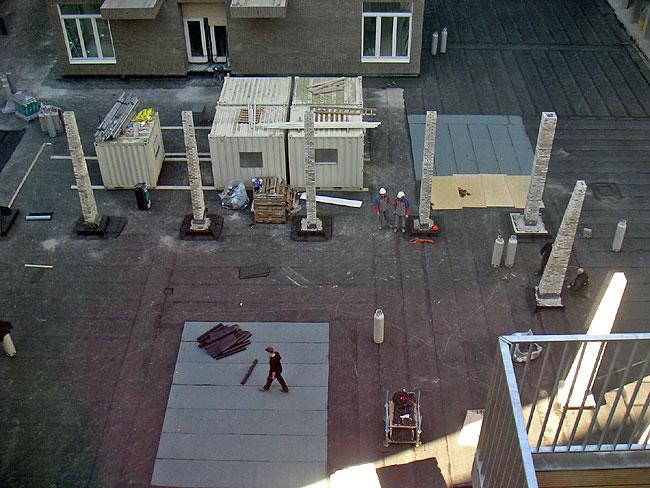 12 februari 2008 - Toren voor pergola ...